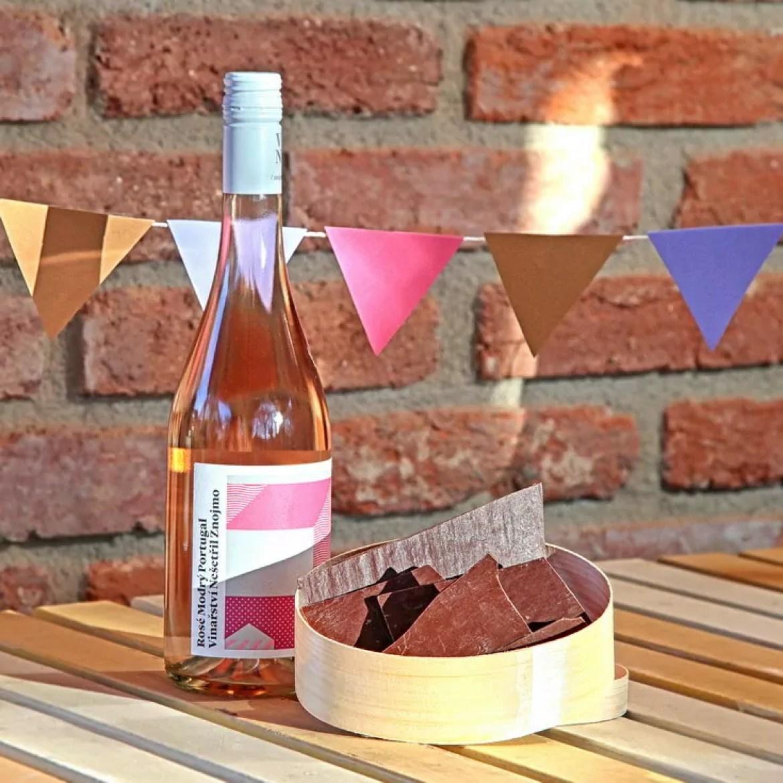 Víno a čokoláda dárkové balení vína