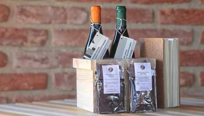 Dárkové balení vína s čokoládou
