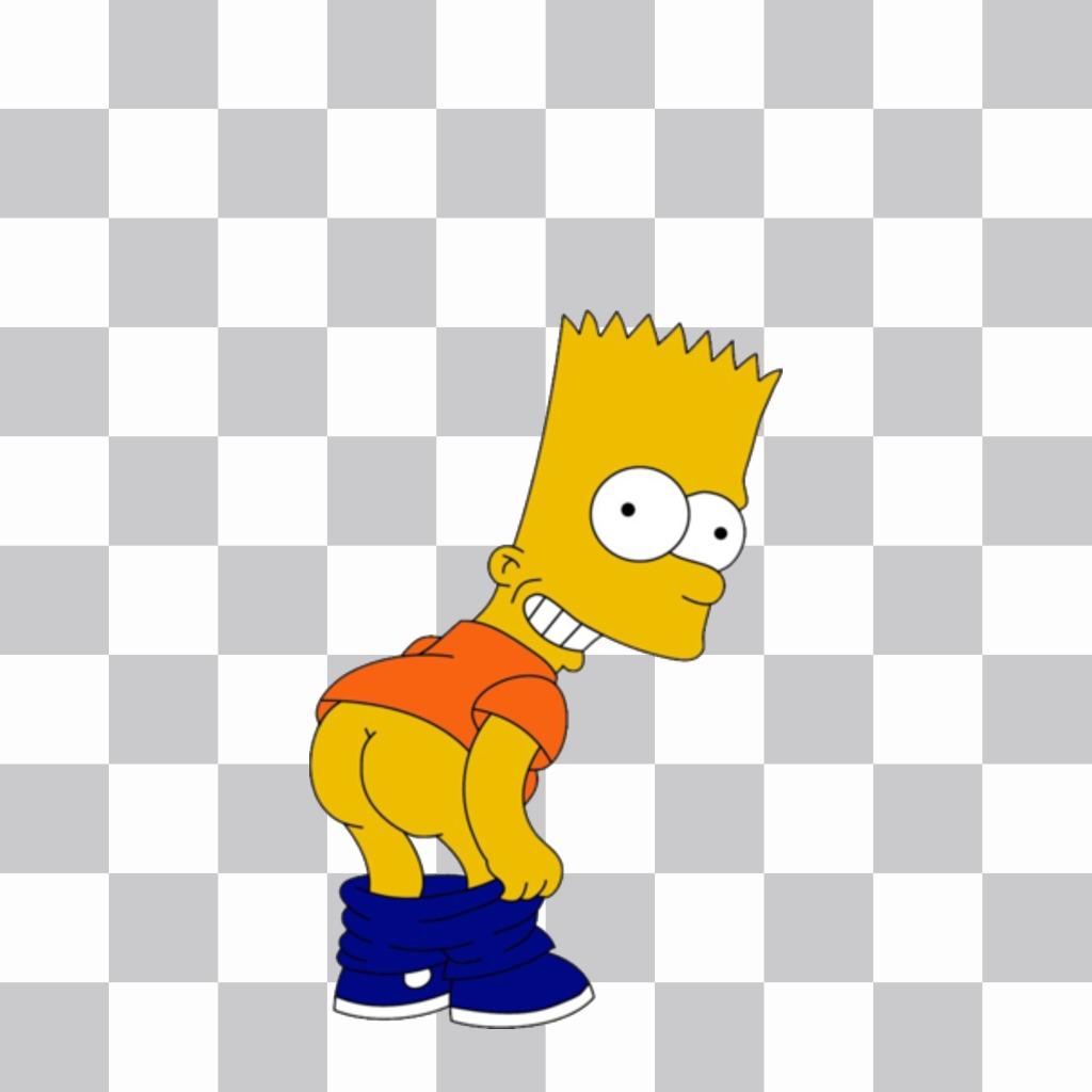 Bart Sad Para Colorear