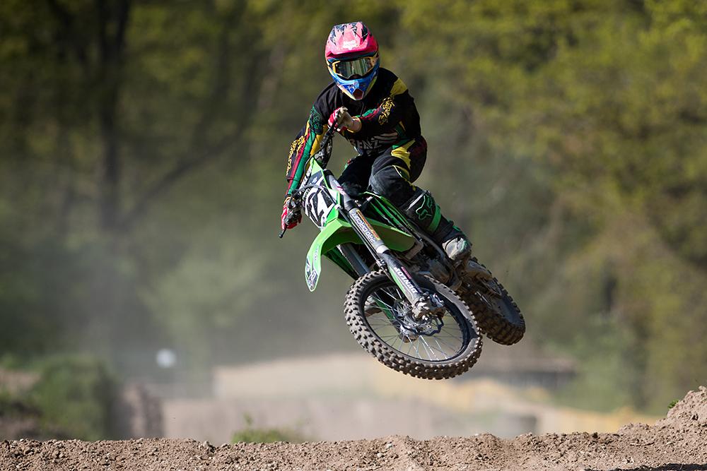 Motocross-Aufnahme mit Nikon D500