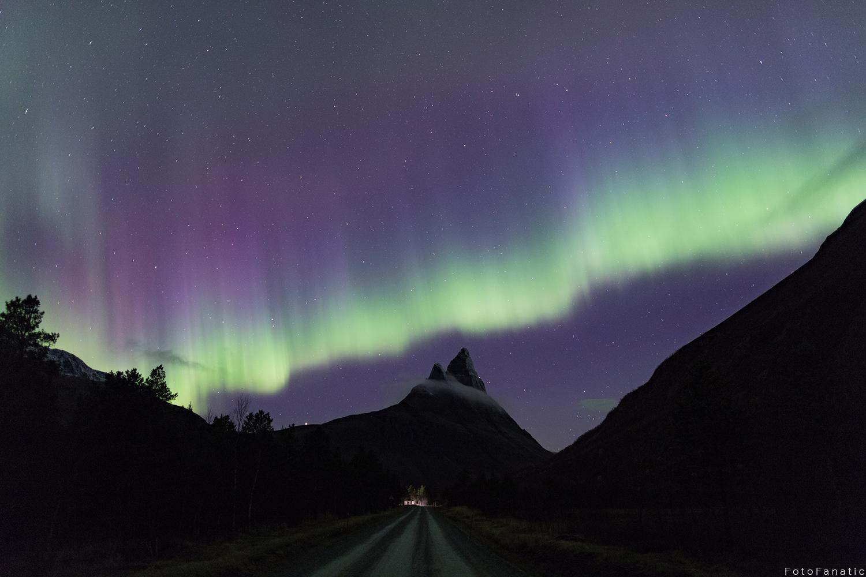 Otertind Aurora borealis curtain