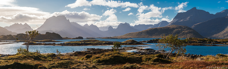 Lofoten panorama landscape