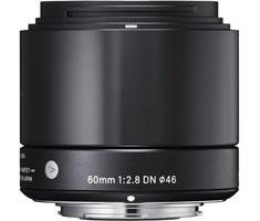 Sigma NEX 60mm F/2.8 zwart ART DN voor Sony NEX
