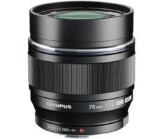 Olympus MFT 75mm F/1.8 zwart M.Zuiko Digital