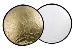 Linkstar Reflectiescherm 2 in 1 Goud/Zilver 110 cm