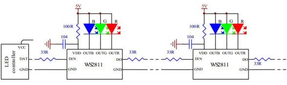 WS2811 - Prinzipschema