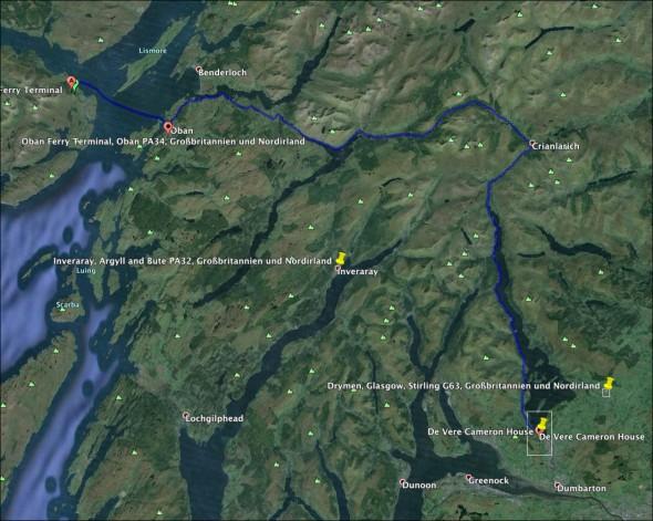 Schottland Karte - Tag 12