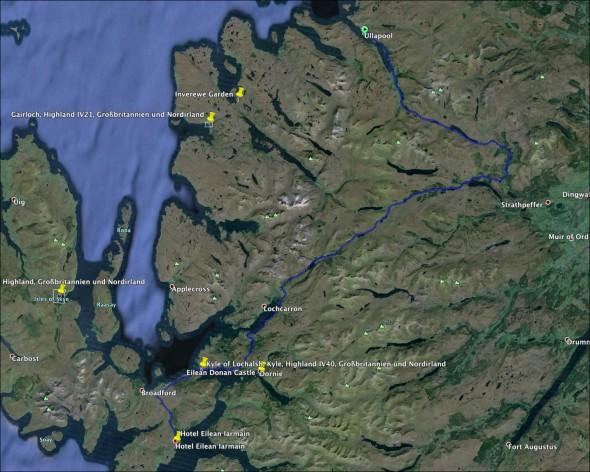 Schottland Karte - Tag 7