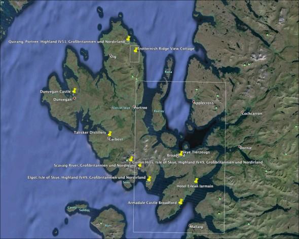 Schottland Karte - Tag 8