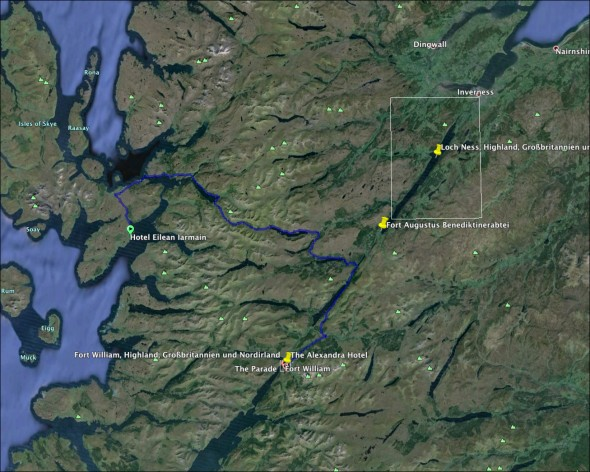 Schottland Karte - Tag 9