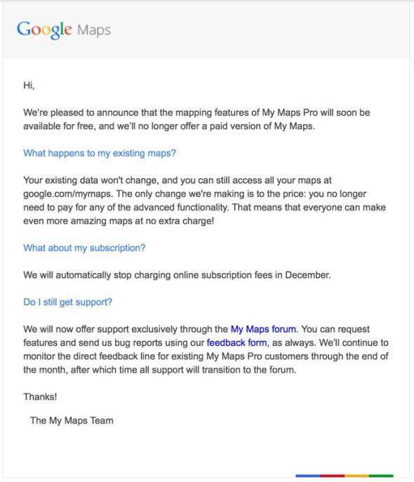 Google Maps Pro Service wird gratis