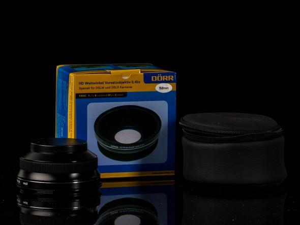 Dörr HD Weitwinkel Vorsatzobjektiv 0.45 mit 52mm Filtergewinde