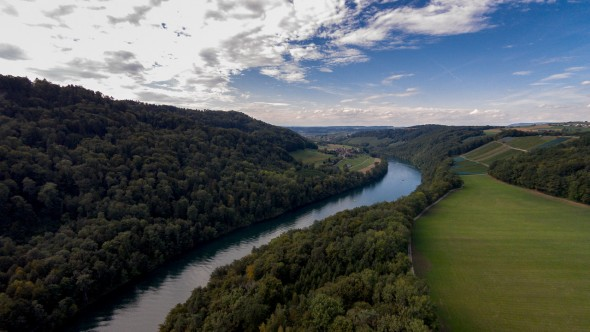 Rhein Abwärts Richtung Eglisau