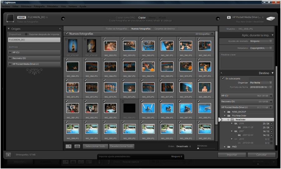 Organizar fotos con Adobe Lightroom