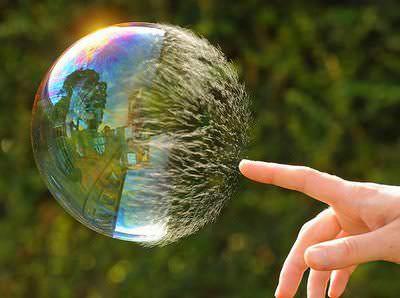 Burbujas reventando