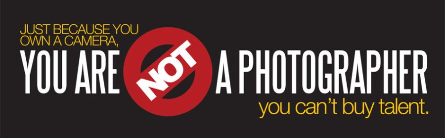 You are not a photographer