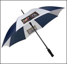 Foto Regenschirm selber gestalten und bedrucken lassen  Regenschirm mit Foto und Text