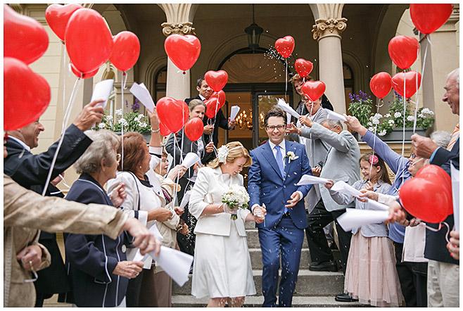 Empfang Des Brautpaares