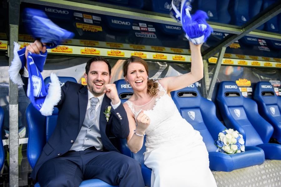 Hochzeitsfotos VFL Bochum Vonovia Ruhrstadion