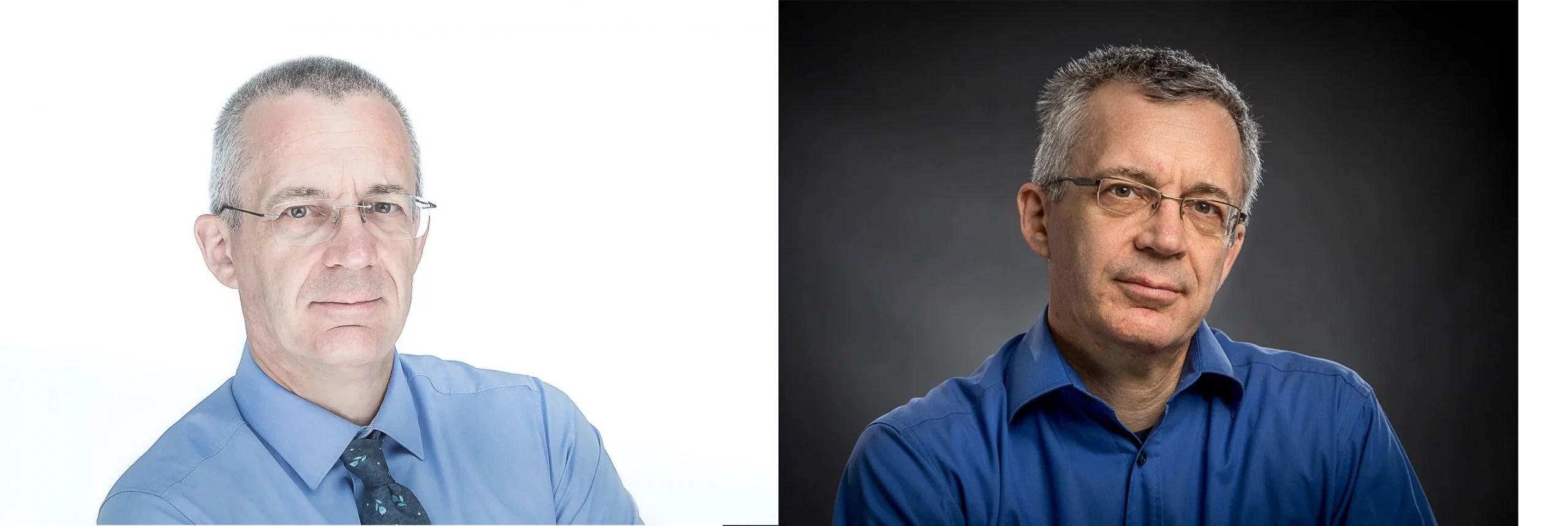 Business-Portraits mit verschiedener Anmutung (Look) - hell oder dunkel.