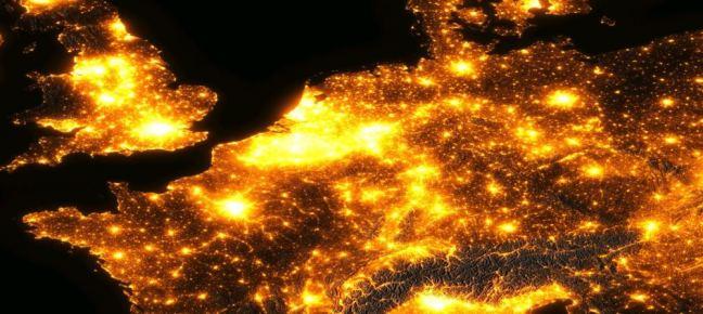 Lichtvervuiling vanuit de ruimte