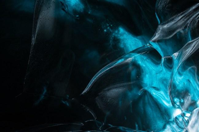 detail van gletsjerijs