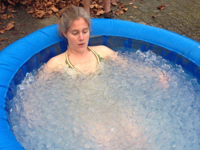 leren focussen in een ijsbad
