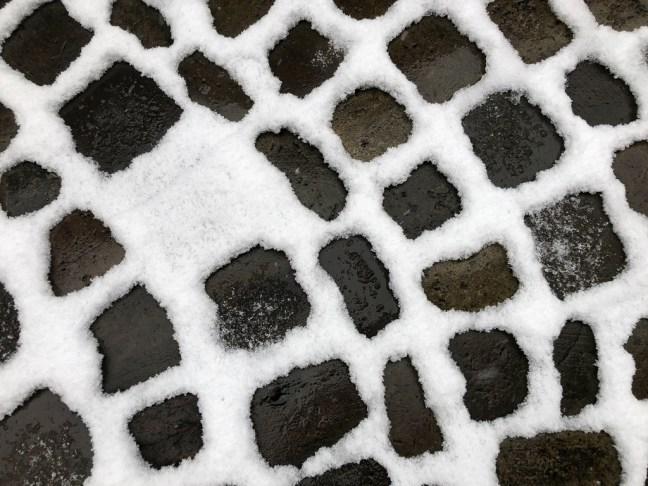 Sneeuw in 1 kinderkopje