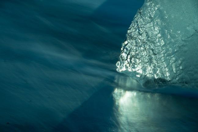 ijsschots op het strand in IJsland