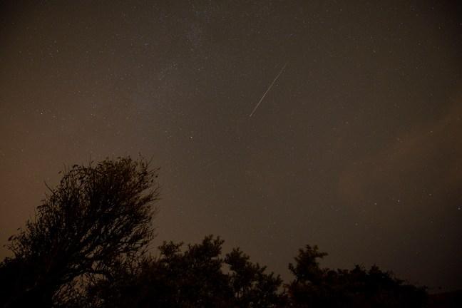 Vallende sterren tijdens de meteorenzwerm Perseïden