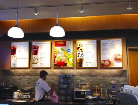 angle in us menu board