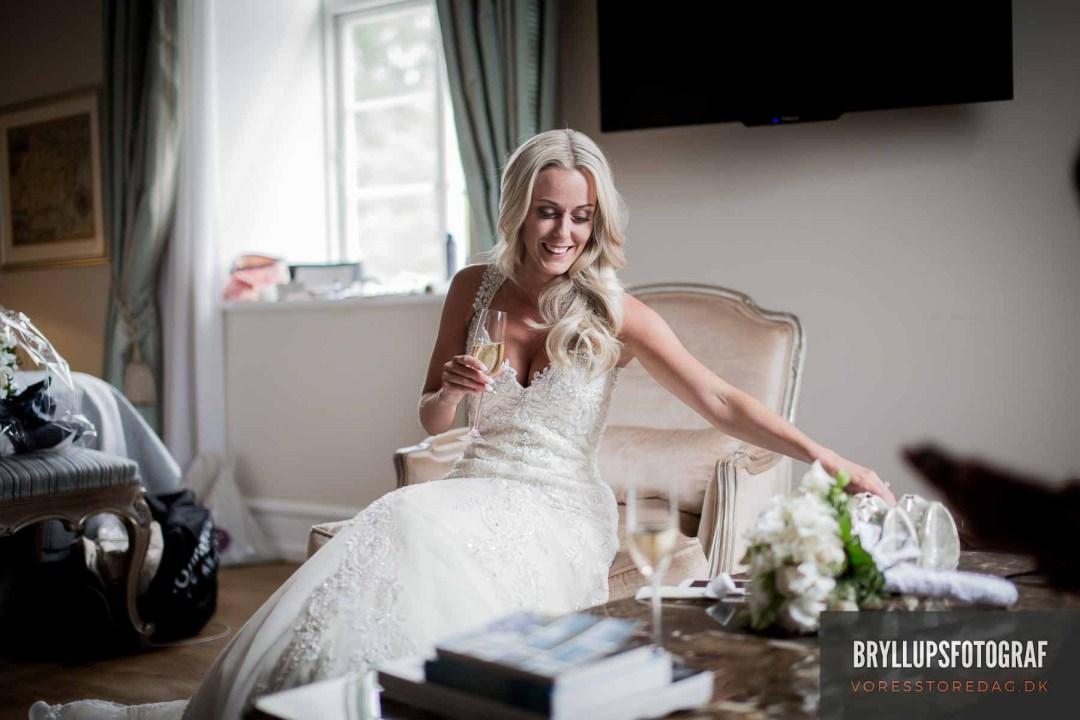 Her har du virkelig med en dygtig bryllupsfotograf Fredericia