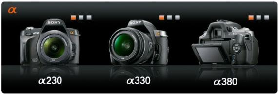 Sony Alpha 230, 330 e 380
