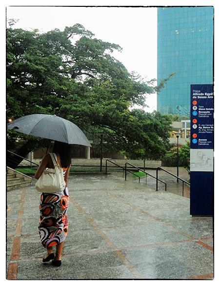 aguardando passar uma breve chuva de verão