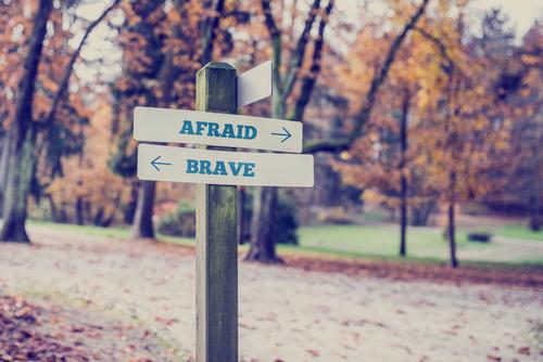 Coragem e medo via Shutterstock
