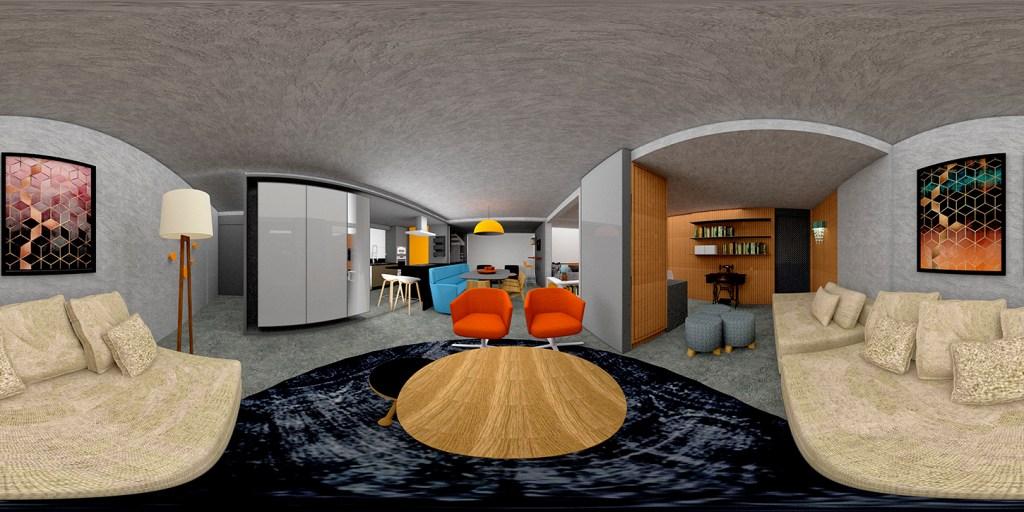 apartamento decorado 3d 360 graus