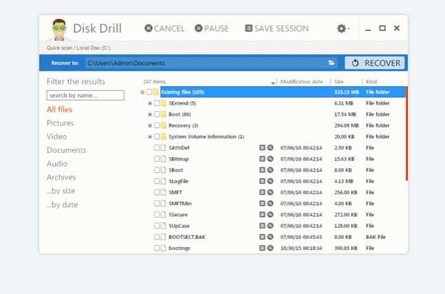 Recuperare le foto con Disk Drill