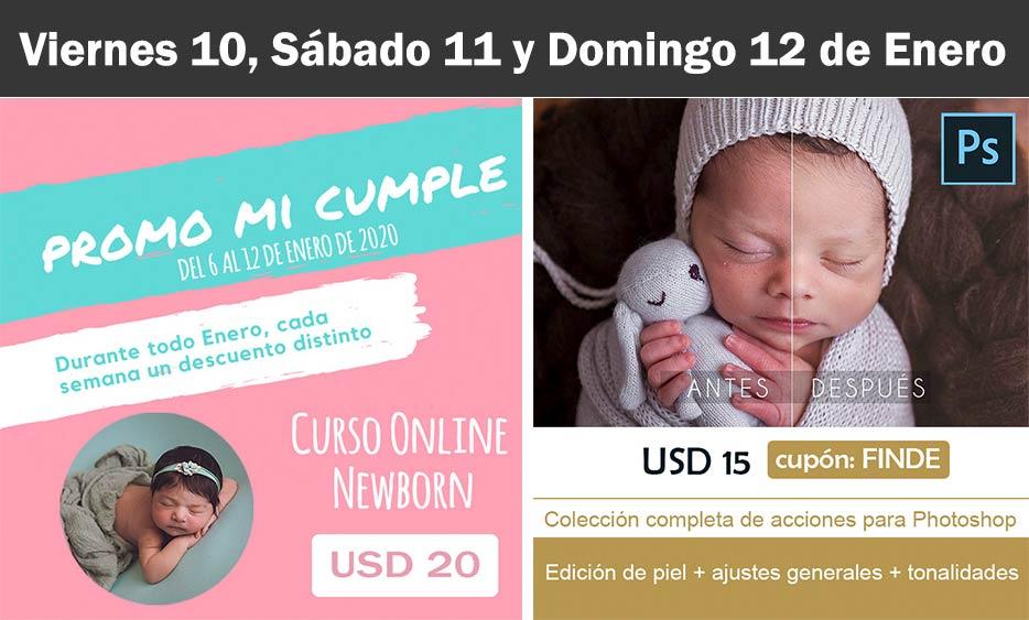oferta curso newborn y acciones photoshop