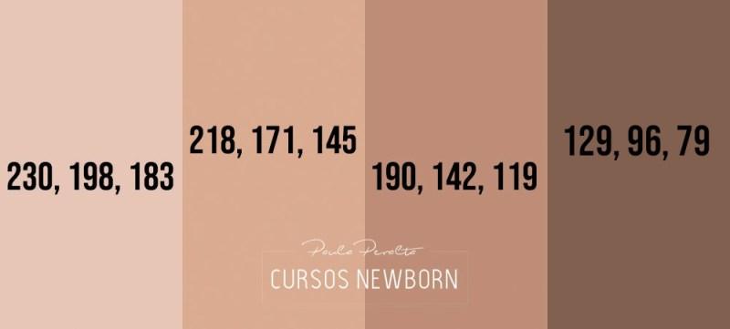 paleta de colores tonos de piel
