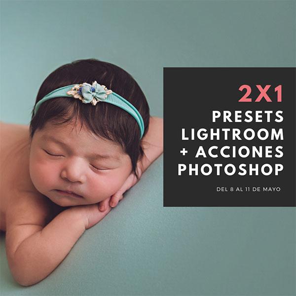 2x1 en presets lightroom y acciones photoshop