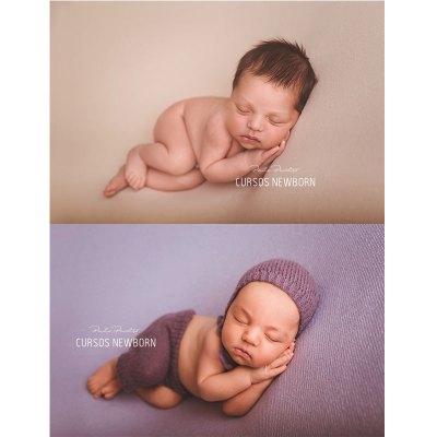 pañal en la sesion de fotos newborn