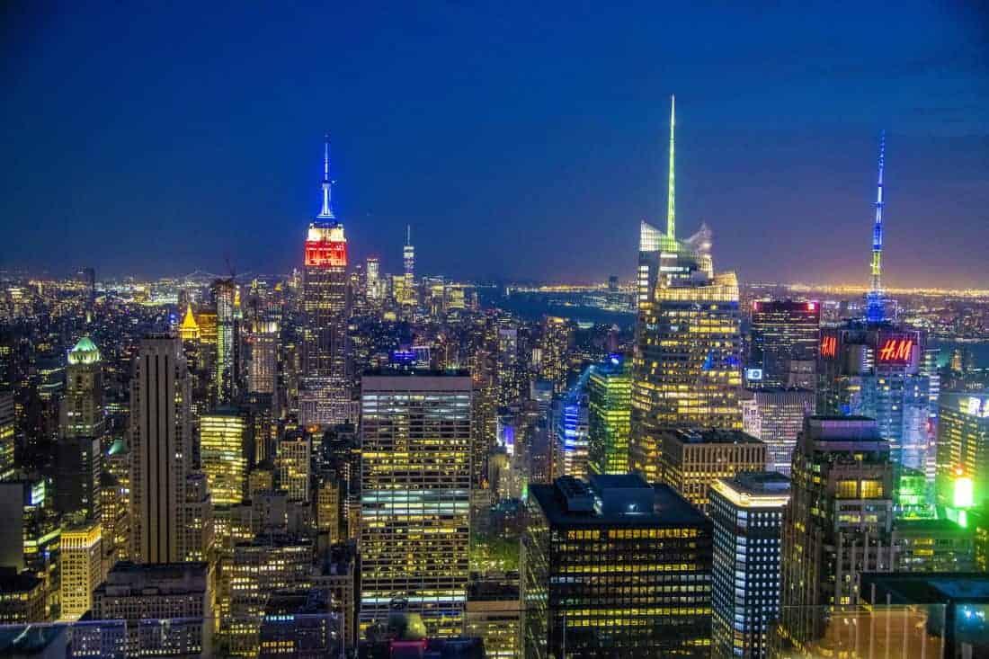 Avondfoto met Empire State Building