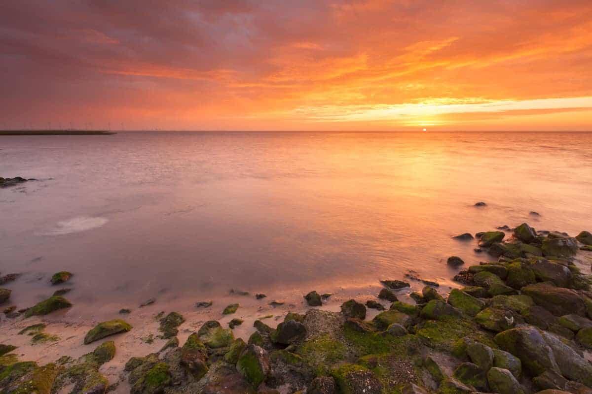 Fotografiereis Groninger Waddenkust zonsondergang