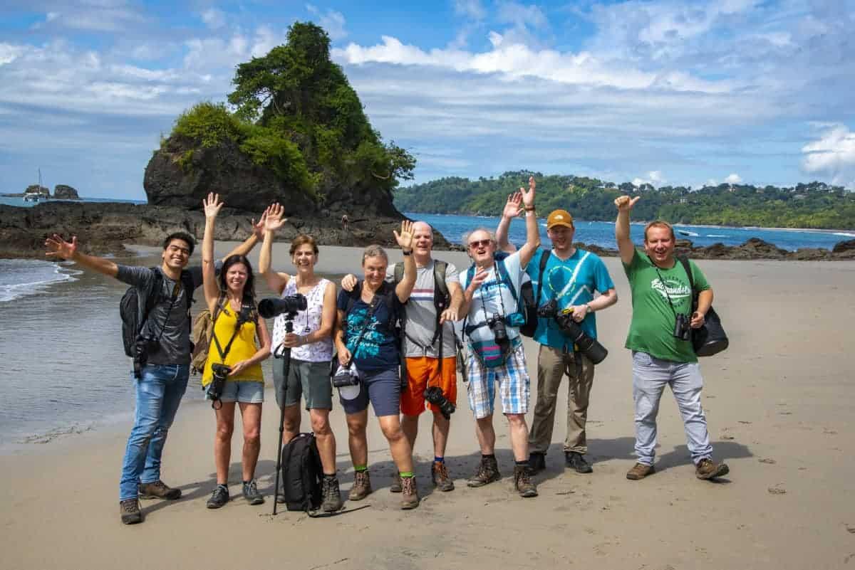 Groepsfoto gemaakt tijdens de fotoreis Costa Rica in november 2019.
