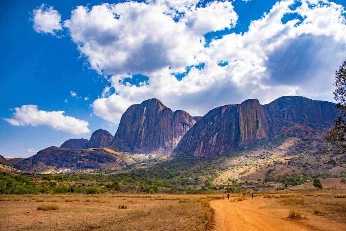 Fotoreis Madagaskar Tsaranoro landschap met lichtvlekken