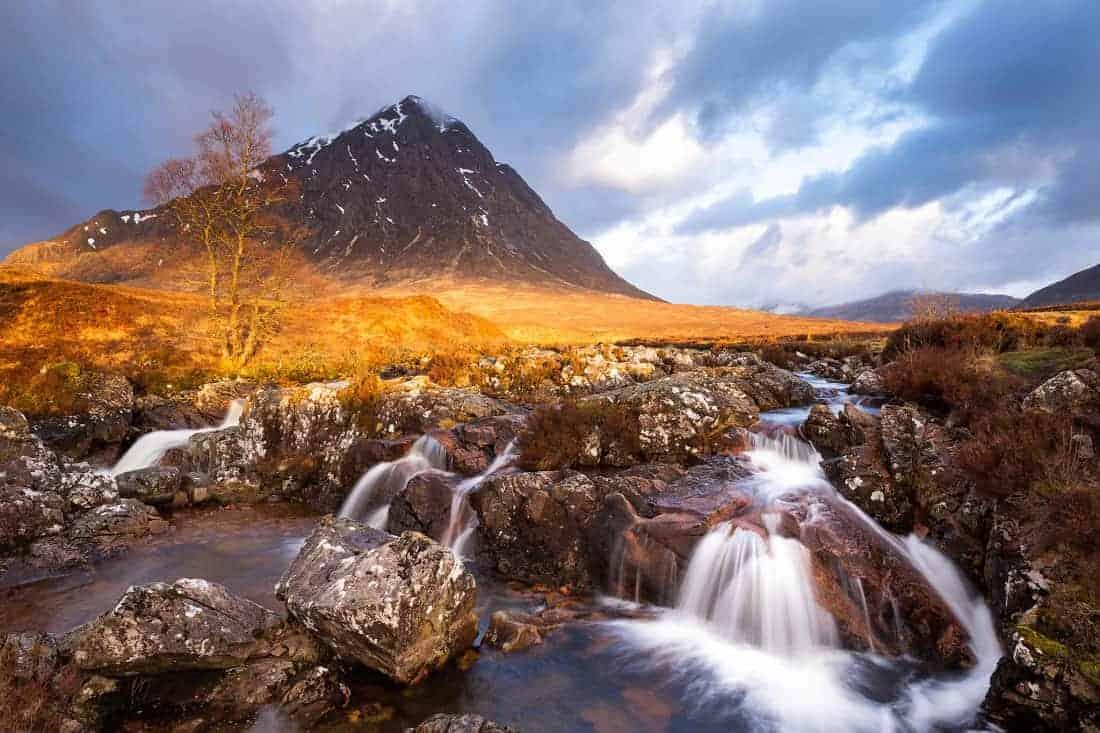 Fotoreis Schotland - Buachaille Etive Mor rivier met lange sluitertijd