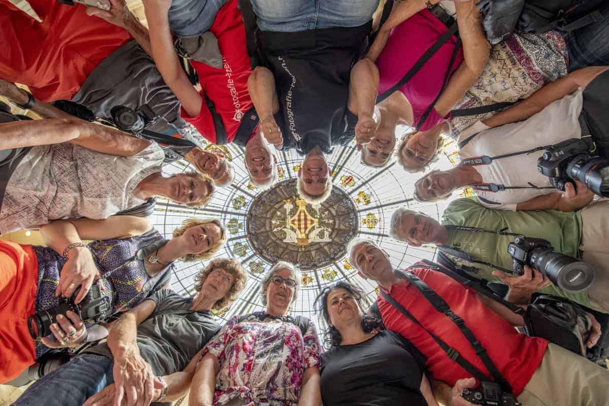 Fotoreizen Valencia groepsfoto vanaf grond