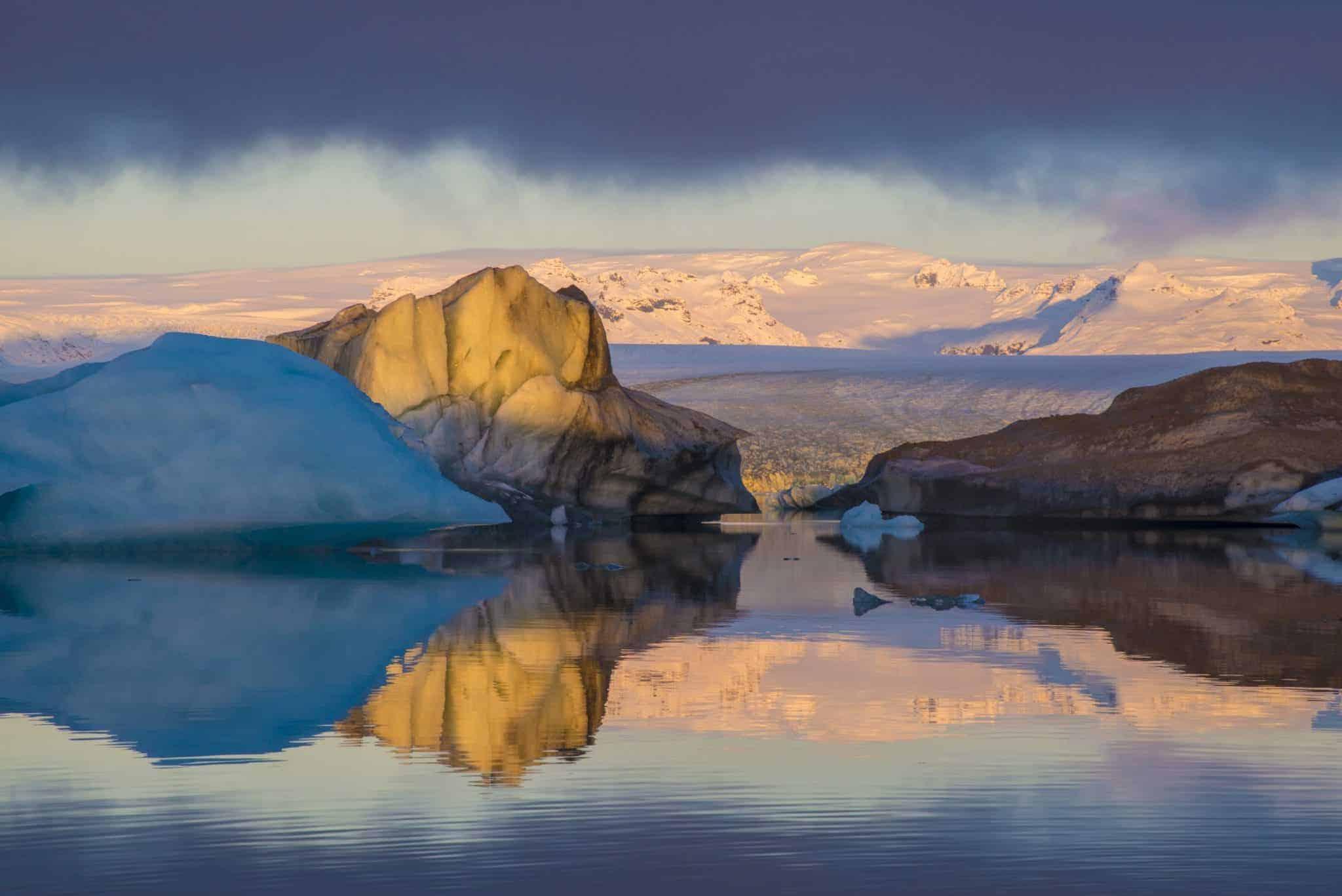 IJsschotsenmeer Jökulsárlón in ochtendlicht - Fotoreis IJsland