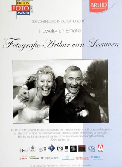 nominatie bruid en bruidegom | Fotografie Arthur van Leeuwen