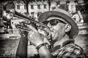 trompettist-straatportret